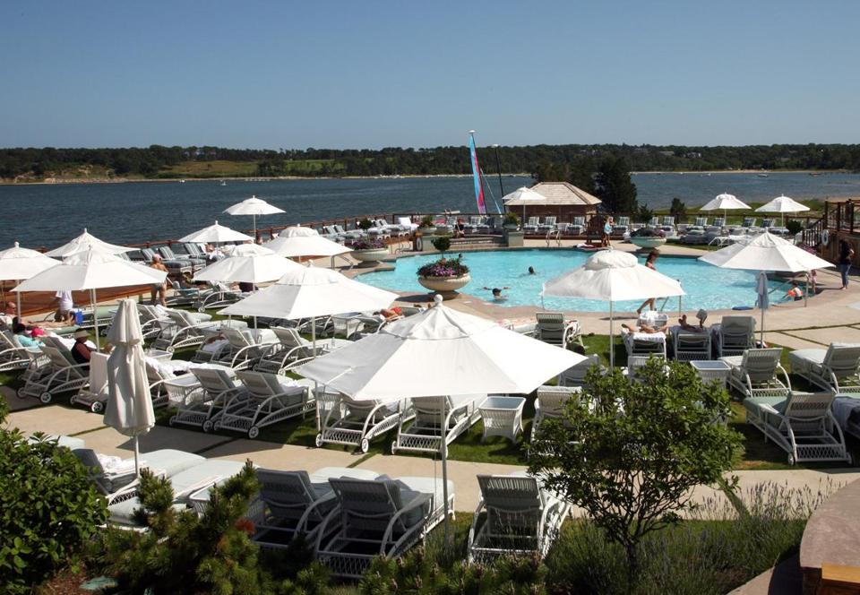 Wequett Inn Resort And Golf Club Guests Lounge By The Pool Which Overlooks Pleasant Bay In