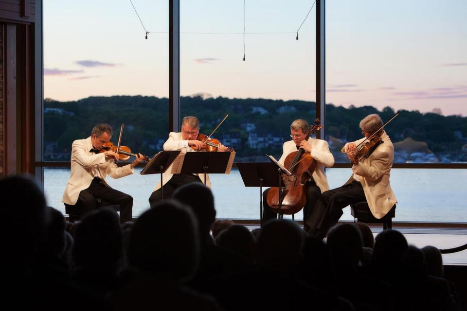The Emerson Quartet — (from left) Eugene Drucker, Philip Setzer, Paul Watkins, and Lawrence Dutton — performed on opening night at the Rockport Chamber Music Festival.