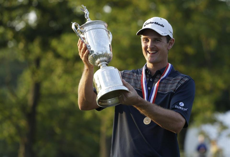 Justin Rose won his first major in the 2013 US Open at Merion. AP Photo/Darron Cummings, File