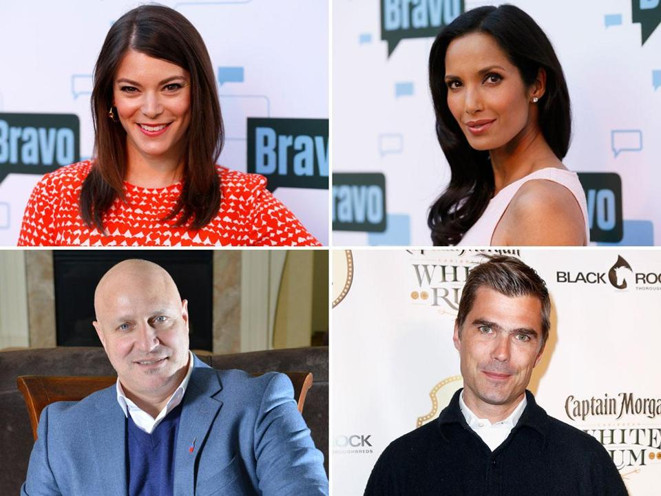 Clockwise (from top left): Gail Simmons, Padma Lakshmi, Hugh Acheson, and Tom Colicchio.