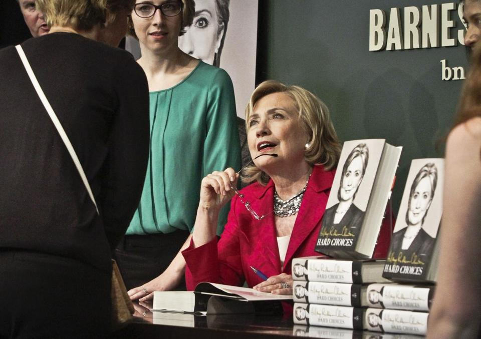 HiIlary Rodham Clinton's tour for ''Hard Choices'' began Tuesday morning in the friendliest possible setting: A sold out autographing event at a Barnes & Noble in Manhattan's Union Square.