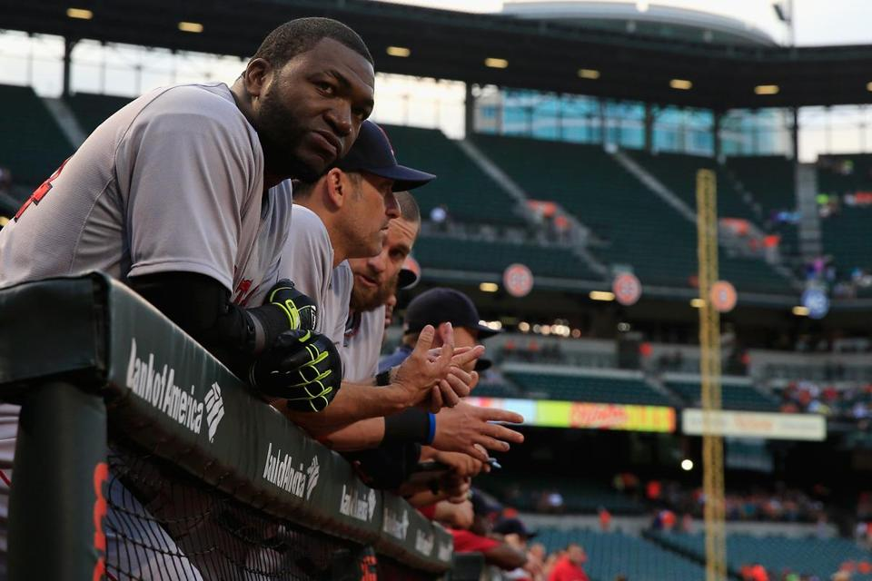 David Ortiz looked before the Red Sox lost Monday in Baltimore.