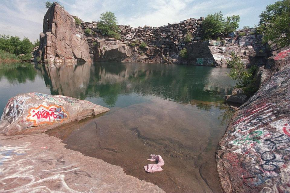 For a long time, the Quincy quarries have been a hangout for young people for recreation, but also sometimes for drinking and drug use.  The drowning of a teenager there sparked an effort to curb substance abuse.