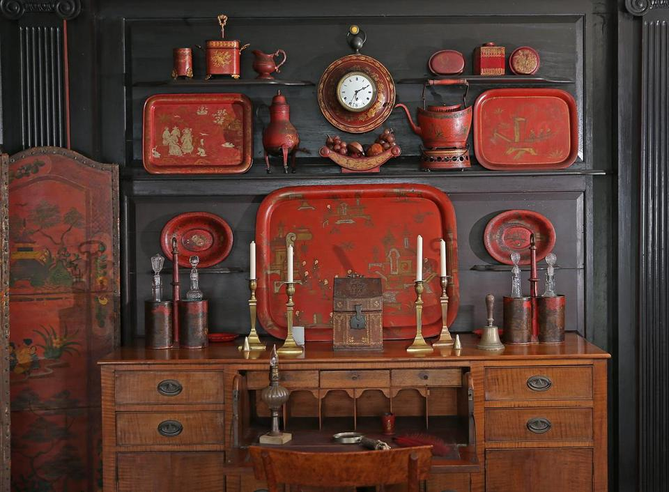 Henry Davis Sleeper used farm house furnishings, pottery, and glassware throughout the mansion.
