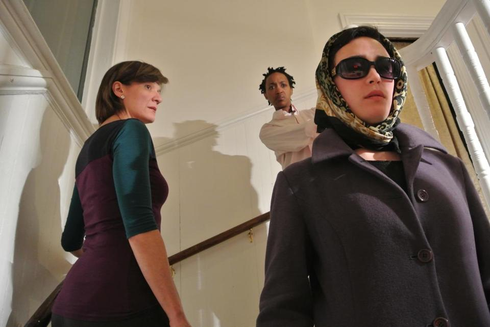 "From left: Lisa Tucker, Robin Smith, and Kathleen Lewis are three of the four cast members in ""Apt. 4D."""