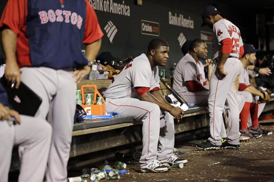 Red Sox starting pitcher Rubby De La Rosa gave up four runs on seven hits in Baltimore, falling to 1-2.