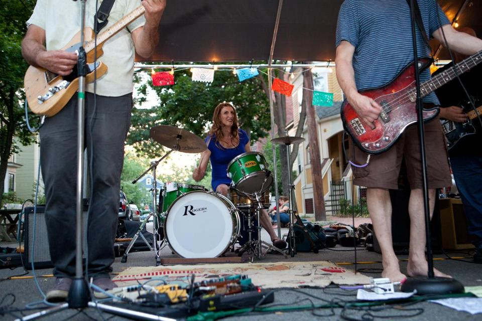 "Rikki Bates (pictured drumming at a Cambridge block party earlier this month) says learning of MassHealth's decision to cover gender reassignment surgery was ""like my life's dream coming true, really."""