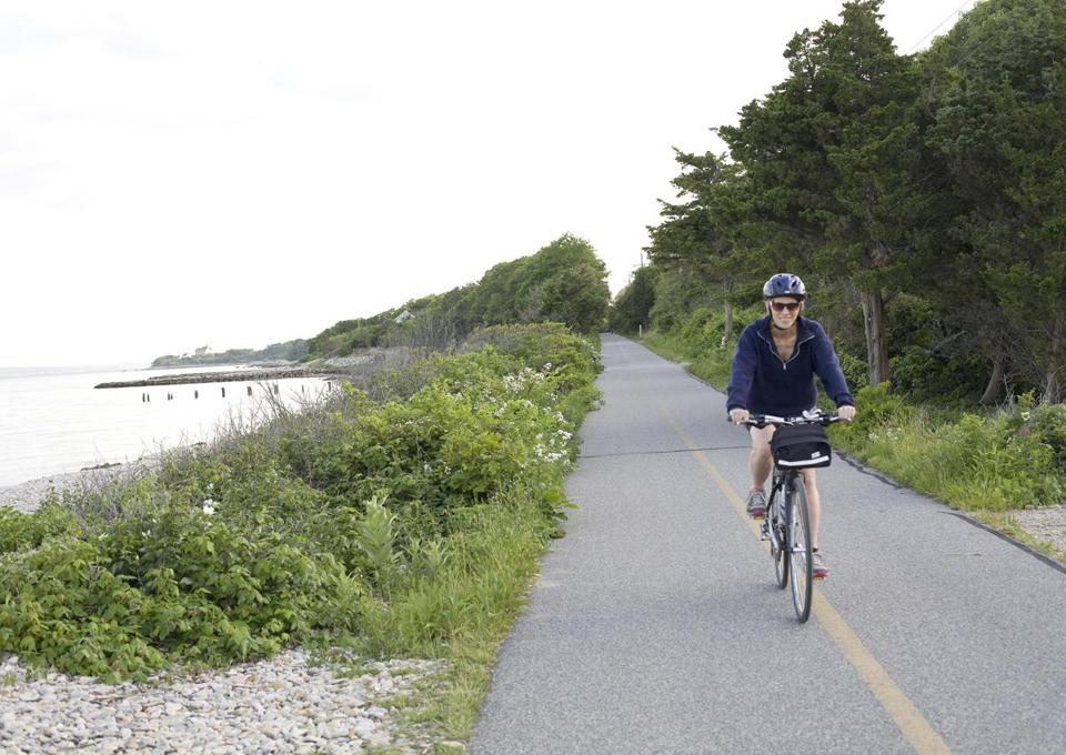 The Shining Sea Bikeway near Woods Hole.