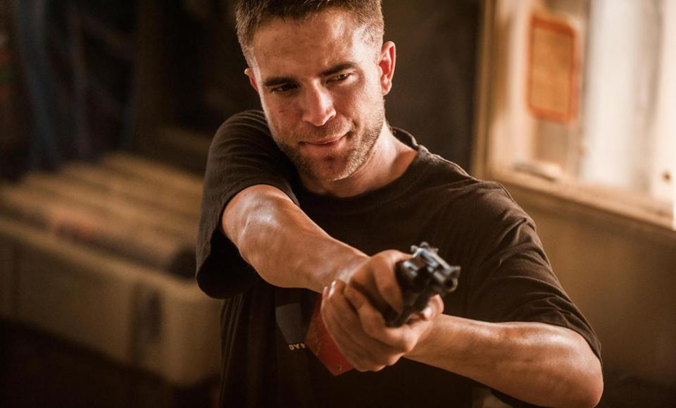 "Robert Pattinson plays Guy Pearce's troubled sidekick in ""The Rover."""