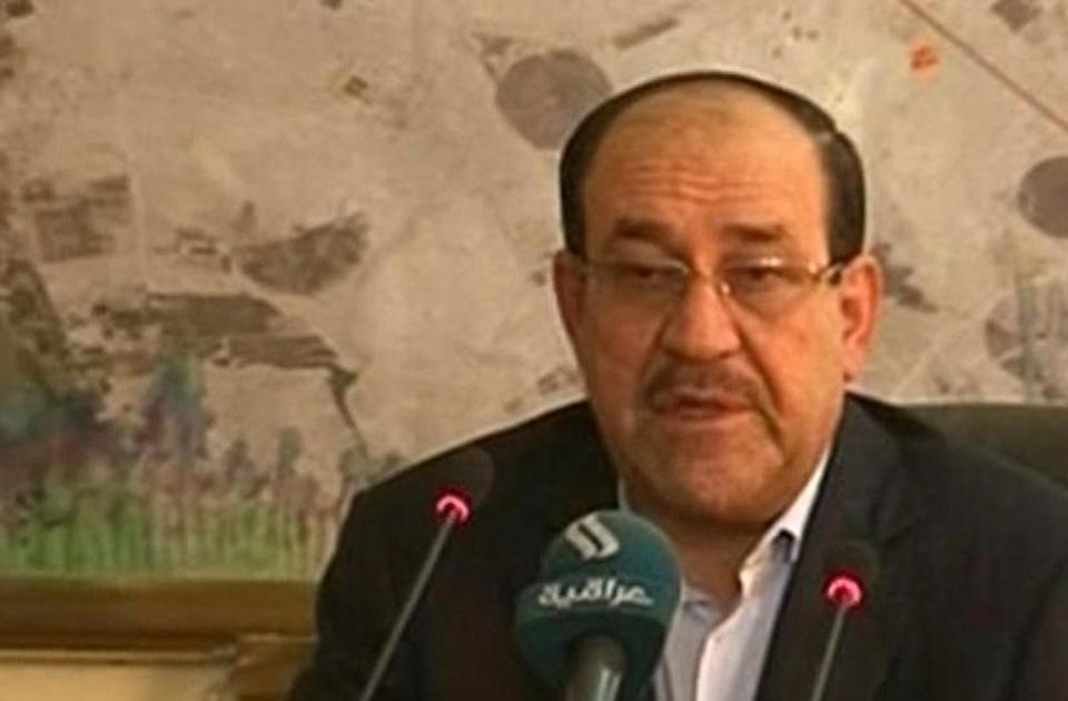 Iraqi Prime Minister Nouri al-Maliki, in an image from television Friday, has resisted Sunni voices in his government.