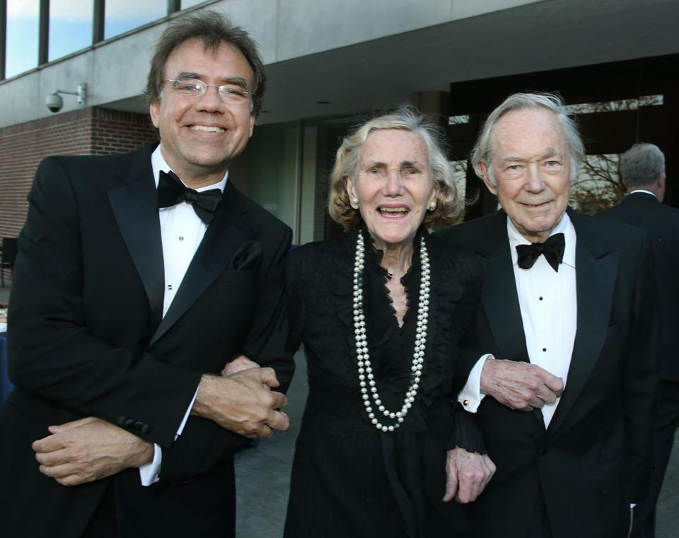 "BLO music director Christopher Wilkins (left), Adelaide ""Smoki"" Bacon, and her husband, Dick Concannon."