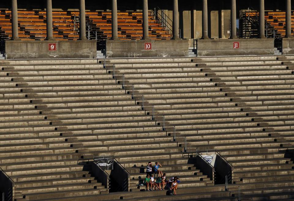 Spectators filled less than 10 percent of the seats at the June 19 Boston Breakers-Seattle Reign game at Allston's Harvard Stadium.