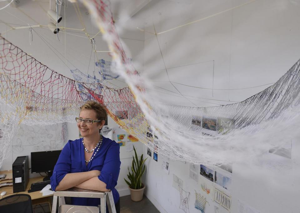 The Greenway has announced the installation of a huge, billowing fabric work by Brookline-based artist Janet Echelman.