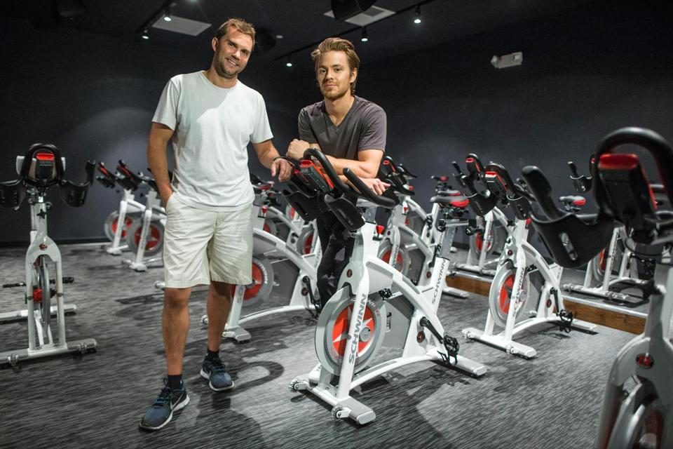 Cofounders Ryan Olsen and Mark Partin are set to open B/SPOKE indoor cycling studio next week on Federal Street in the Financial District.
