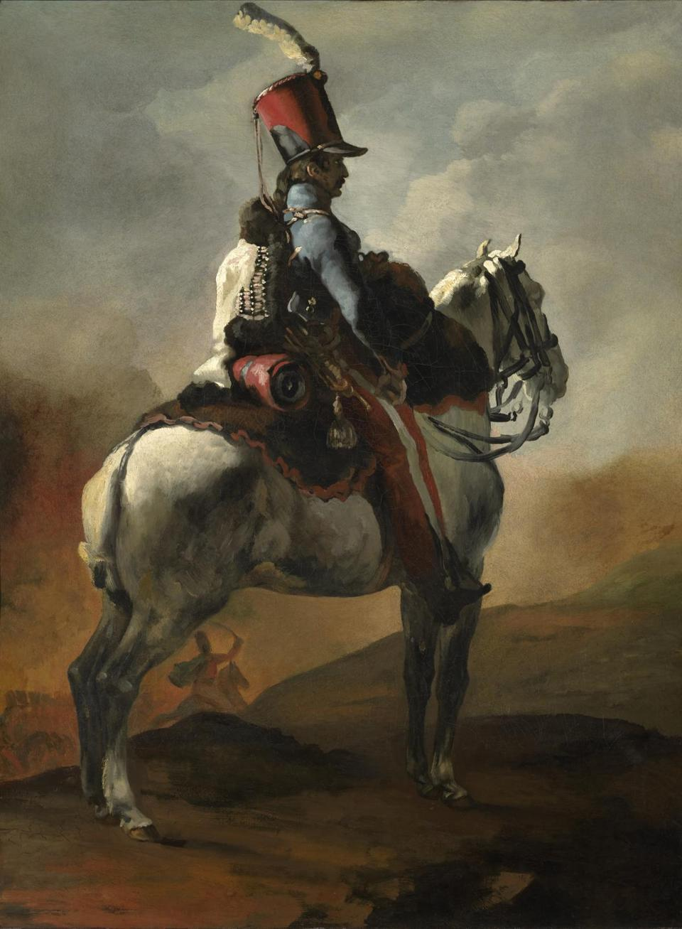The Clark Art Institute - ThŽodore GŽricault (French, 1791�1824), Trumpeter of the Hussars, c. 1815�20. Oil on canvas 37 13/16 x 28 1/4 in. The Clark, 1955.959 Photo credit: Courtesy of The Clark Art Institute -- 29Clark