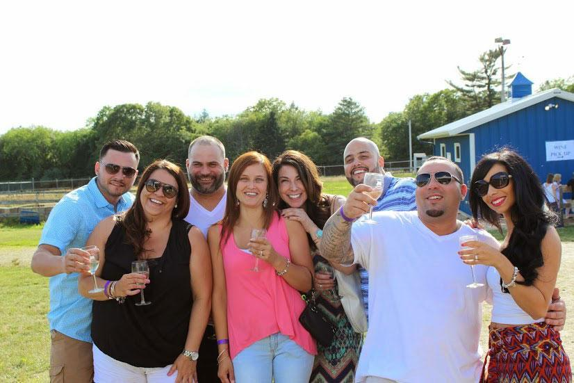 A group of attendees at Westport's third annual wine festival.