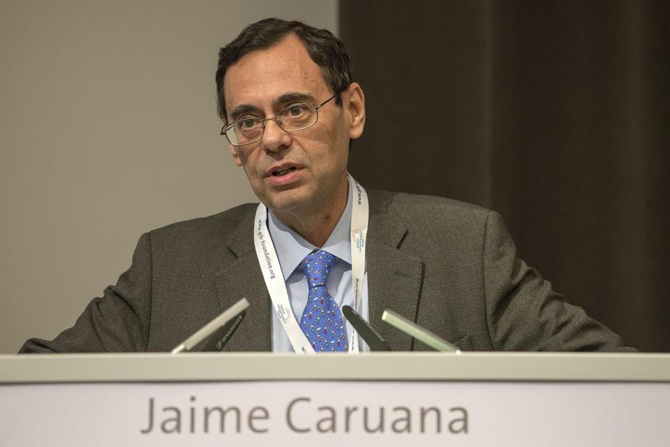 Jaime Caruana, head of the Bank for International Settlements, says debt levels remain high in Europe.