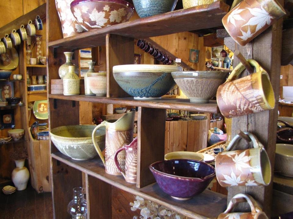 13kennebunks - Good Earth Pottery sells handcrafted stoneware all made and fired in Kennebunkport by husband and wife team, Diane and David Jenkins. (Necee Regis)