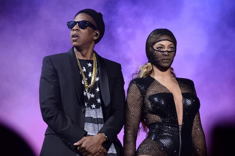 Jay Z and Beyonce performed at Gillette Stadium in Foxborough.