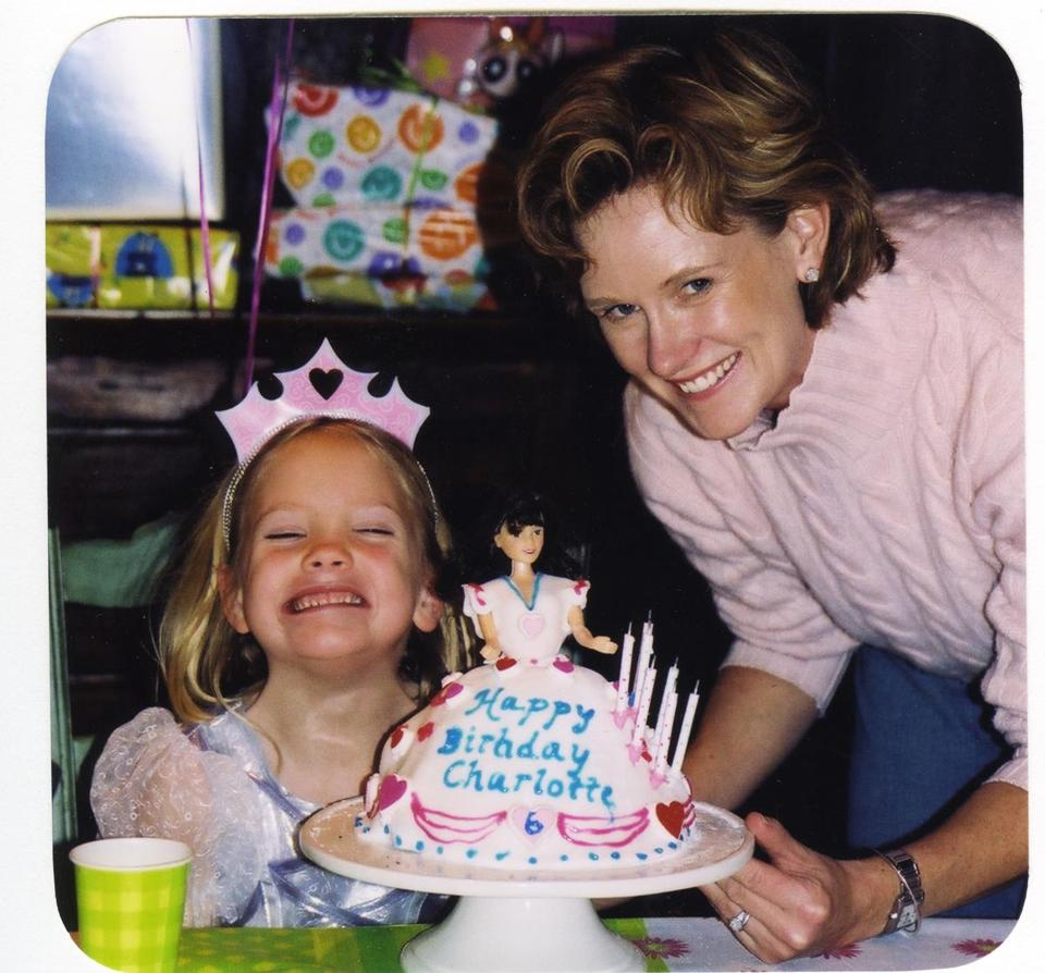 Sukey Forbes with Charlotte at her sixth birthday party.
