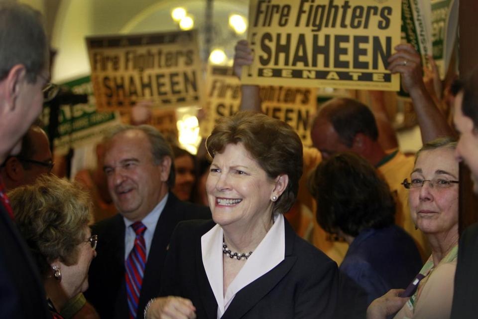 U.S. Sen. Jeanne Shaheen of New Hampshire, shown in a file photo, has more than $5 million on hand.
