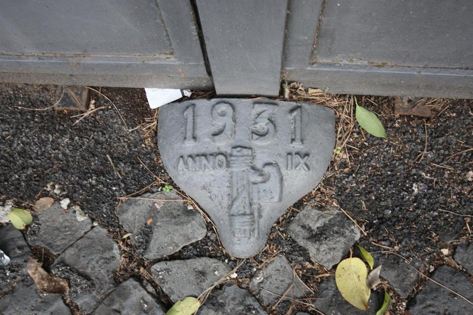 1930s-era fasces are still scattered through the city.