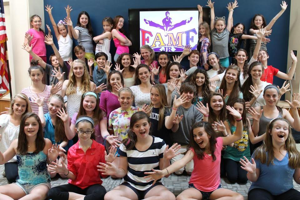 "Boston Children's Theatre's production of ""Fame Jr."" has a cast of 47 youngsters."