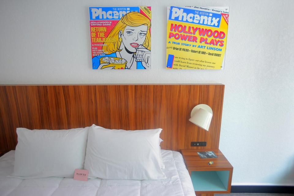 Rooms, which will cost in the mid-$200, are adorned with such retro decorations as manual typewriters and covers from the Phoenix weekly magazine.