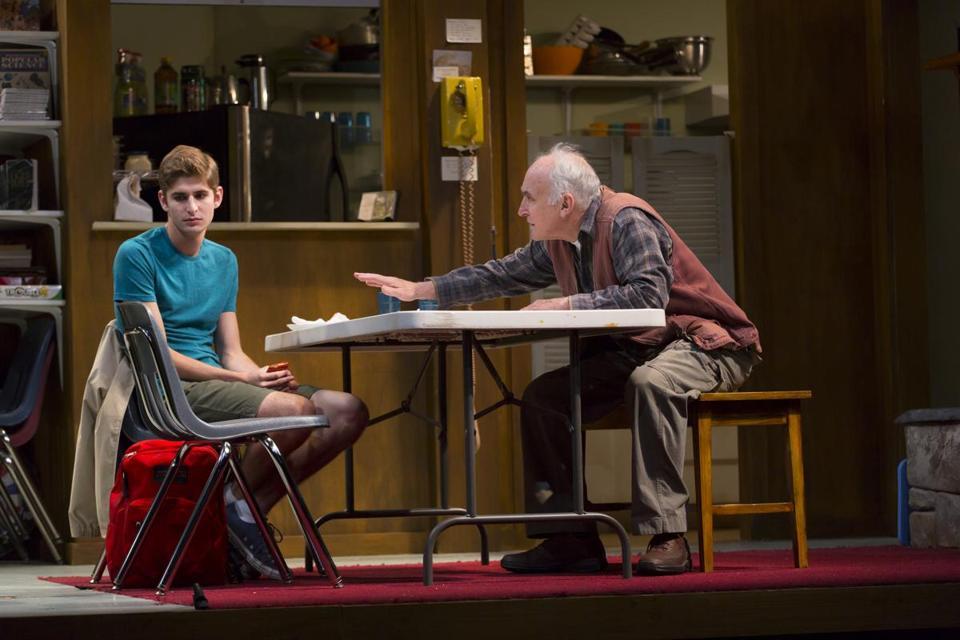 "Stephan Amenta (left) and Jeffrey DeMunn in Williamstown Theatre Festival's production of ""A Great Wilderness."""