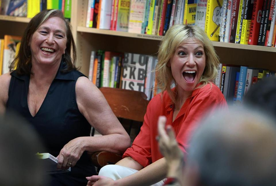 The author was accompanied by her daughter, actress Ari Graynor, for a reading at a Cambridge bookstore in May.