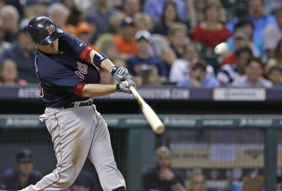 Christian Vazquez drove in three runs against the Astros on Friday.