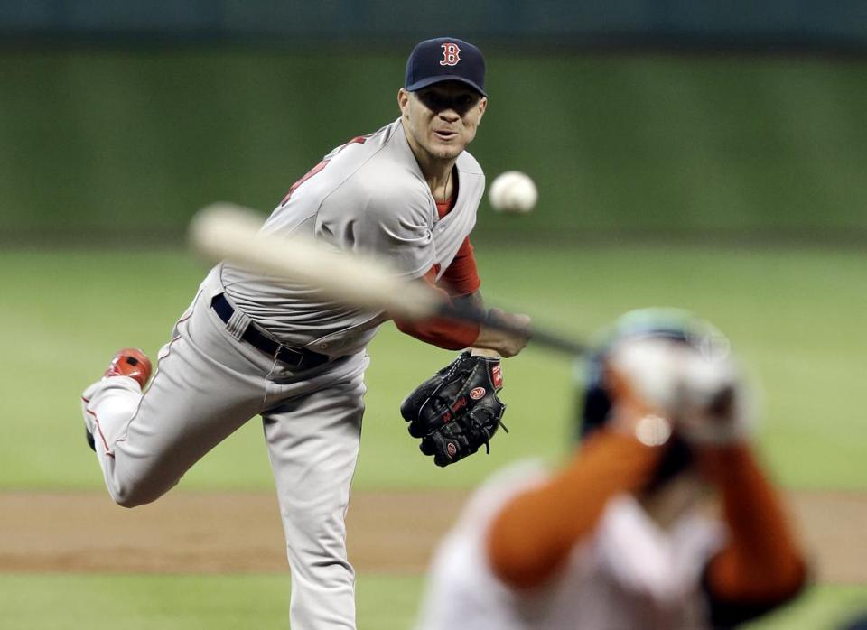 It's possible Jake Peavy has made his last start for the Red Sox. He's not slated to throw again in Boston's rotation until July 22 in Toronto. (AP Photo/Pat Sullivan)