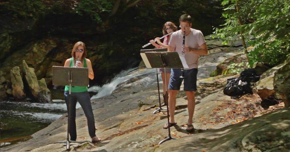 It's rehearsal time near Pikes Falls on Ball Mountain Brook in southern Vermont.