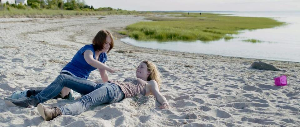"Michelle Petterson and Lucy Walters in the Cape Cod-set dramatic comedy ""Lies I Told My Little Sister,"" which will screen July 31 during the Woods Hole Film Festival."