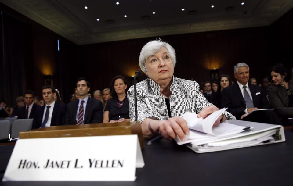 Federal Reserve Chair Janet Yellen says the Fed's future actions will depend on how the economy performs.