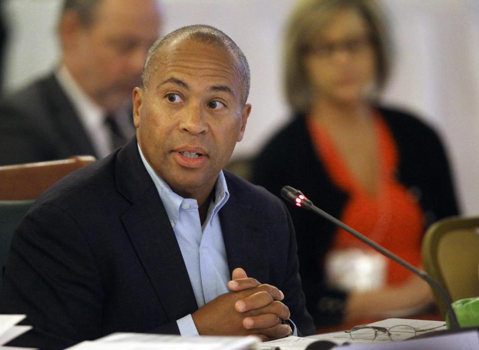 Governor Deval Patrick is shown in a file photo.