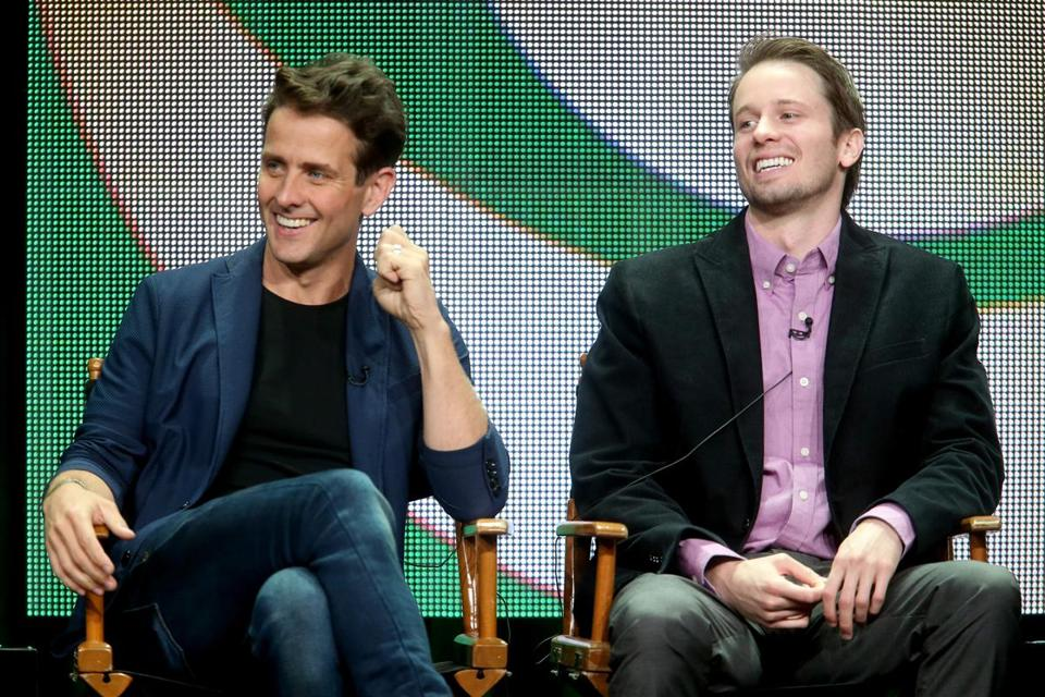 "Joey McIntyre (left, with castmate Tyler Ritter) stars in ""The McCarthys,"" which is set in Boston."