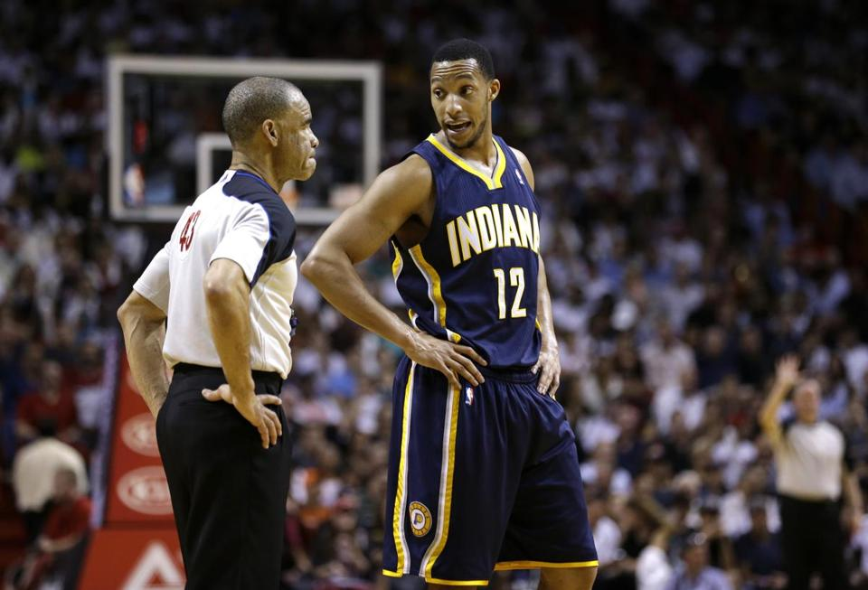 Evan Turner took on a decreased role with the Pacers after being traded from the Sixers last season. (AP Photo/Lynne Sladky)