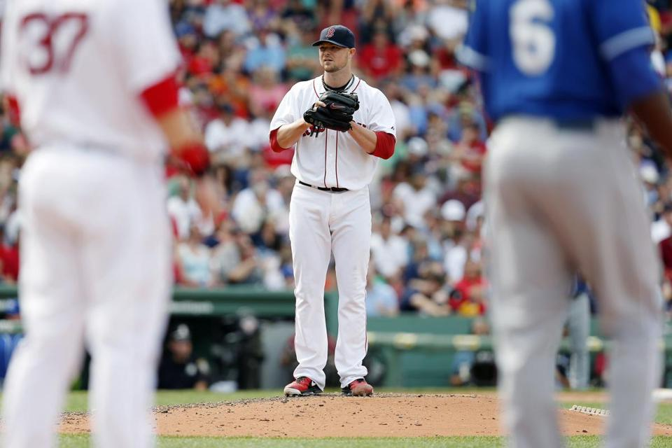 Jon Lester threw eight shutout innings to lead the Red Sox to a win on Sunday.