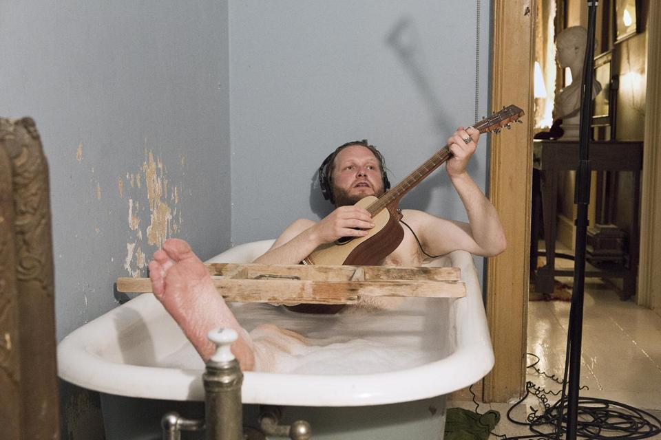 "Ragnar Kjartansson (pictured) and others made music in the rooms of a grand home for the video ""The Visitors."""
