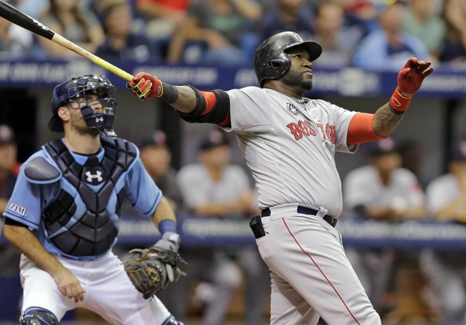 This long home run by David Ortiz on July 27 didn't sit well with the man who gave it up, Rays righthander Chris Archer, who after the game critcized Ortiz for his slow home-run trot. (AP Photo/Chris O'Meara)