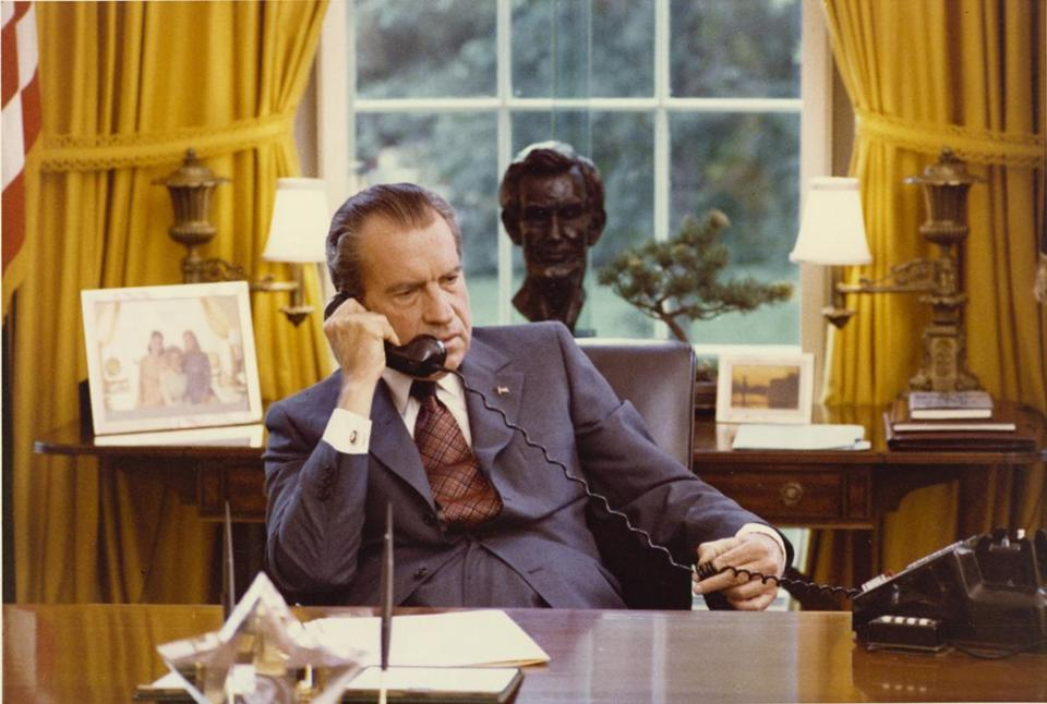 "President Nixon resigned 40 years ago Saturday. In the HBO documentary "" Nixon by Nixon"