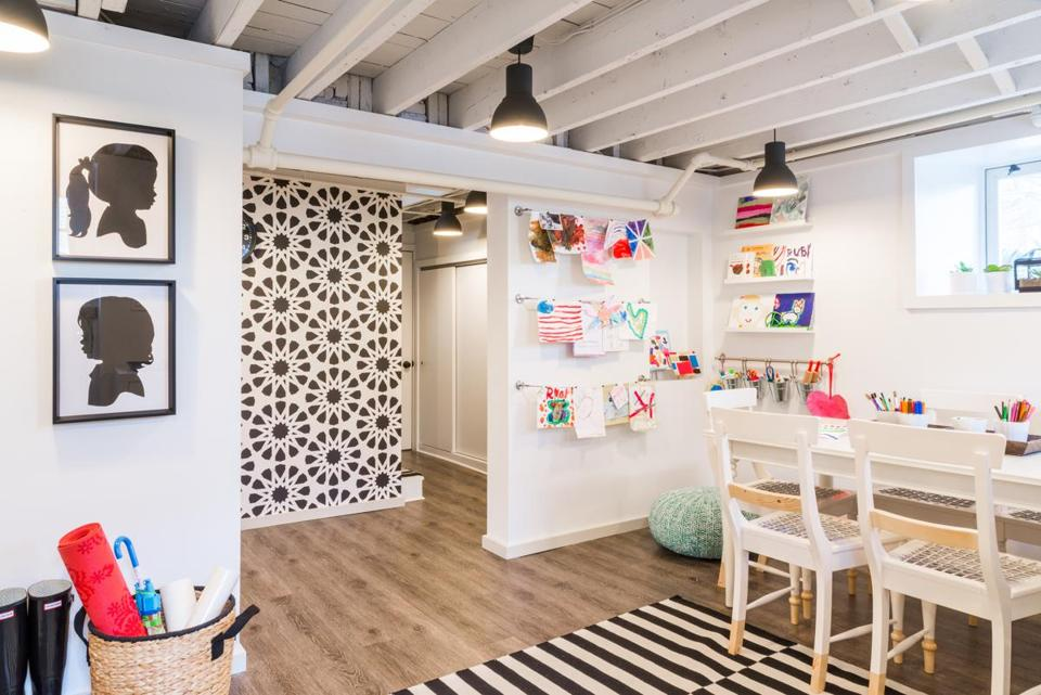 Melrose interior designer Justine Sterling's finished project room for her kids.