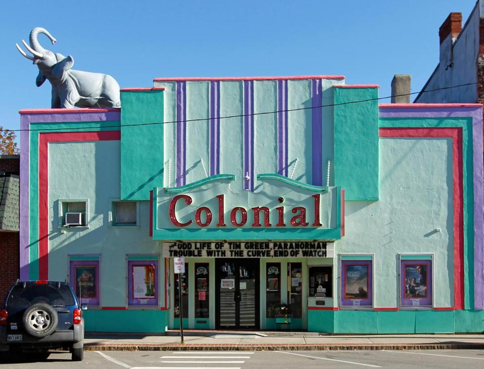 The vintage, art deco-style Colonial Theater shows first run movies and foreign films.