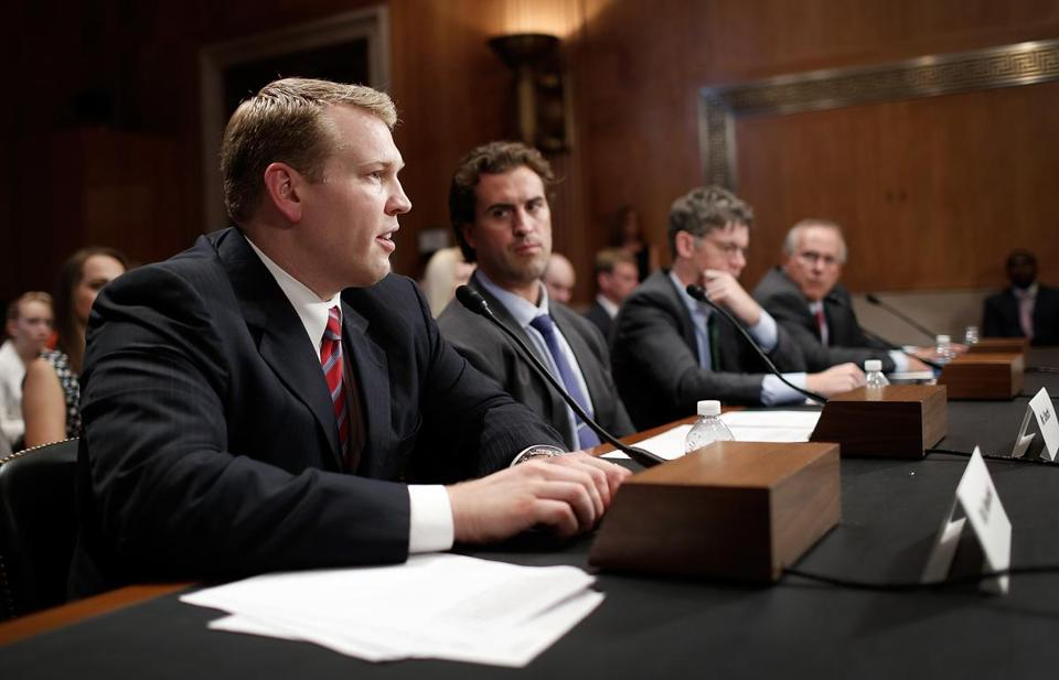 Chris Nowinski (left) acknowledges that much remains to be discovered about sports concussions. He has testified before Congress on issues concerning the brain.