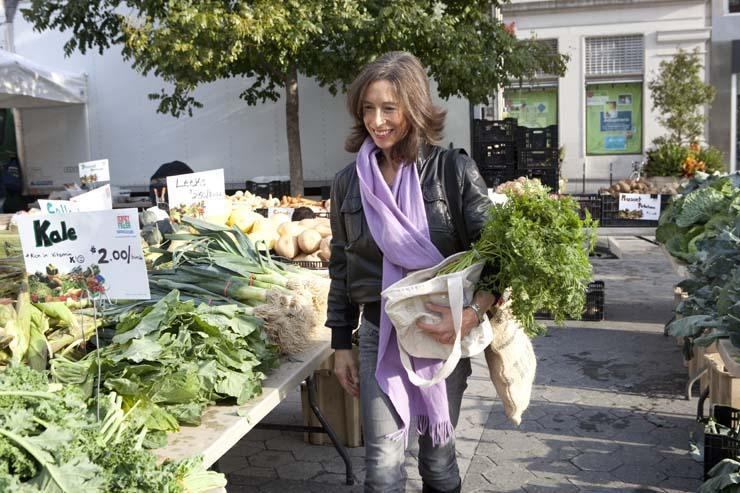 """I buy, cook, serve, eat, and compost huge volumes of fruits and vegetables,'' says writer Nina Planck, an advocate of farmer's markets who was raised by farmers in Virginia."