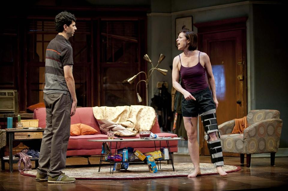 "John Cariani and Paige Davis in the Barrington Stage Company production of Mark St. Germain's ""Dancing Lessons."""