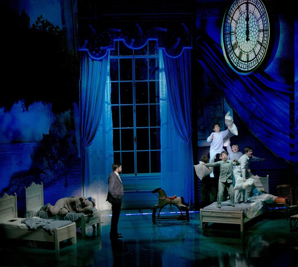 "Jeremy Jordan (left) stars in the world premiere of the musical ""Finding Neverland"" at the American Repertory Theater."