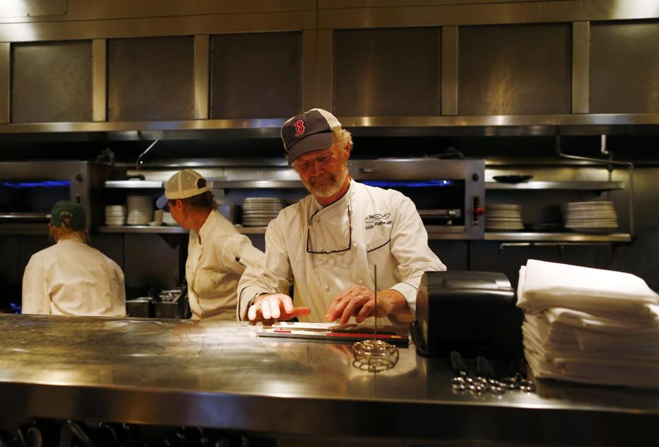 Gordon Hamersley in the kitchen at Hamersley's Bistro in the South End.