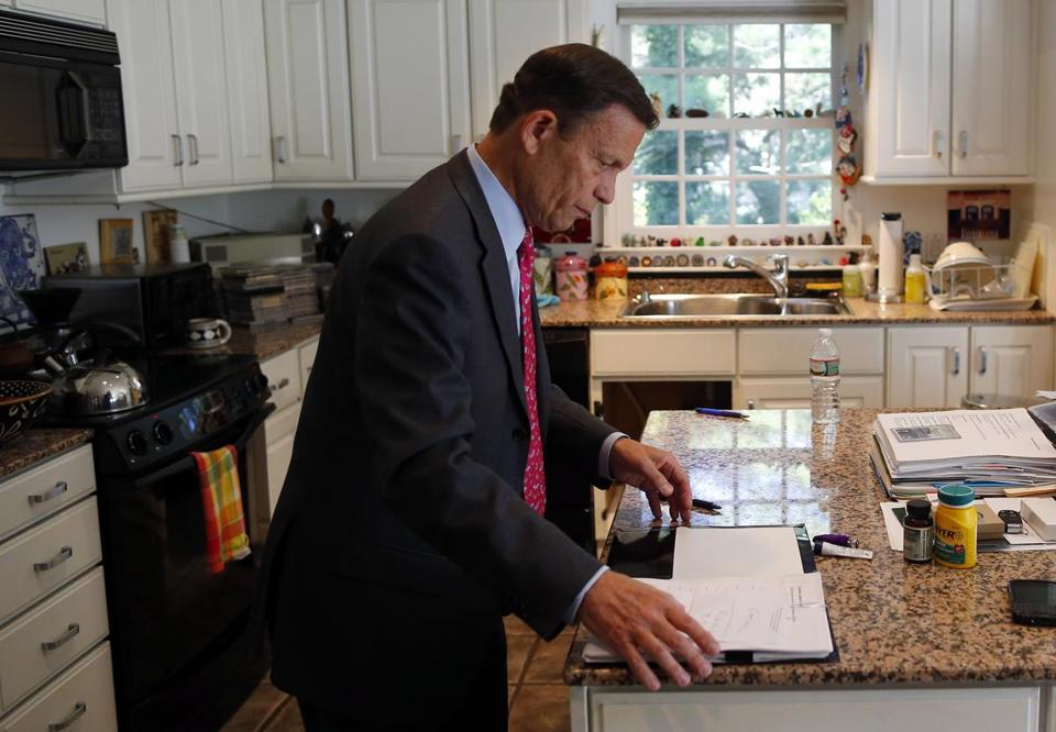 At his home in Newton on an August morning, Steve Grossman got ready to hit the road. He's been thinking about the governorship for at least two decades.